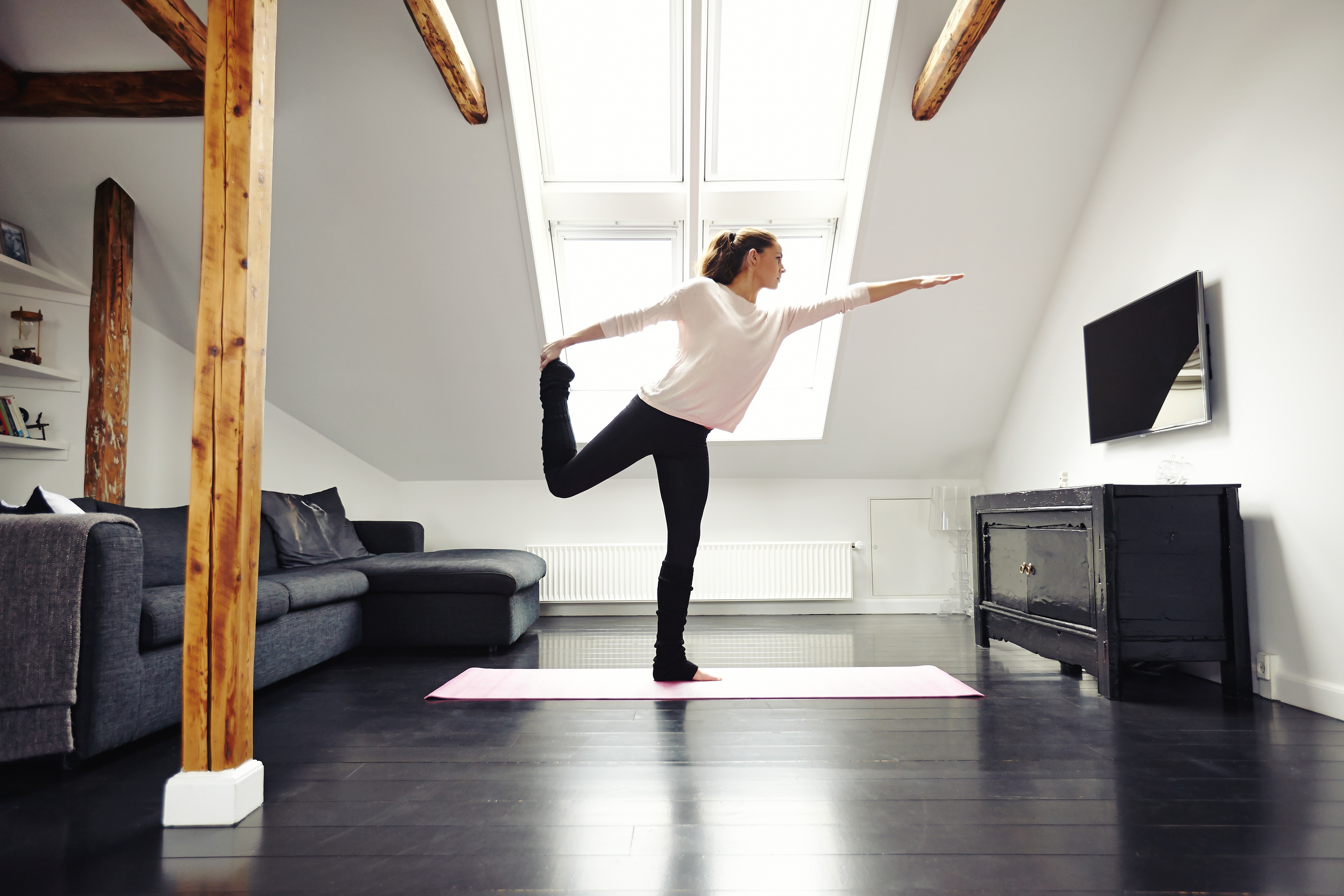 Hacer gimnasia en casa durante el invierno